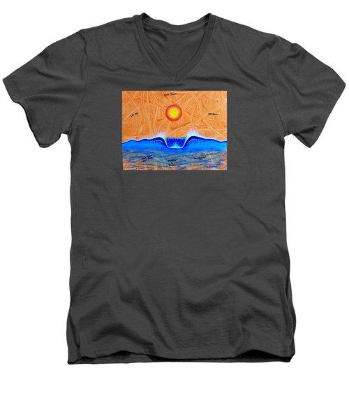 Let Go And Grow Men's V-Neck T-Shirt