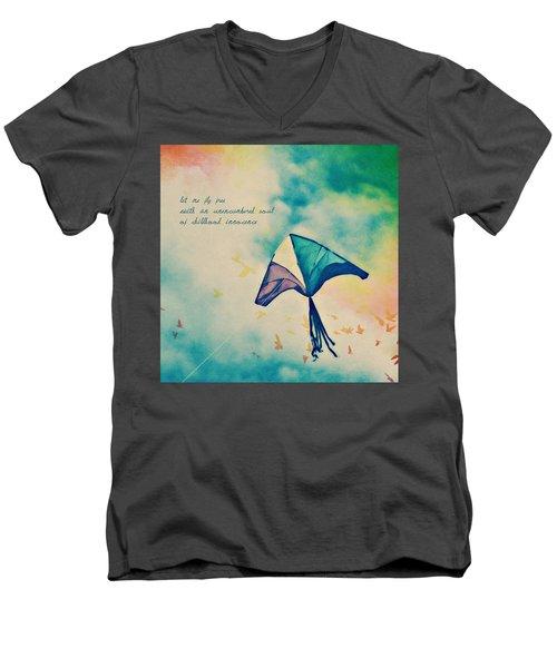 Let Me Fly Free Men's V-Neck T-Shirt