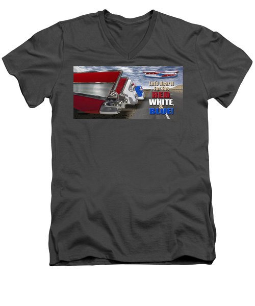 Lets Hear It For The Red White And Blue Men's V-Neck T-Shirt