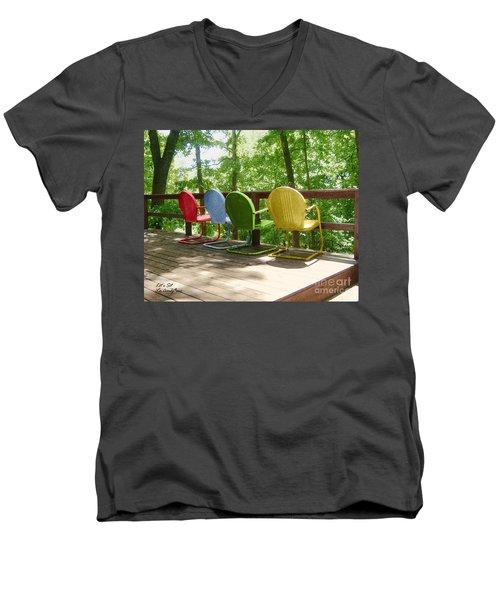Let's Sit Men's V-Neck T-Shirt