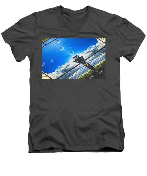 Letting Go Men's V-Neck T-Shirt by Wendy J St Christopher