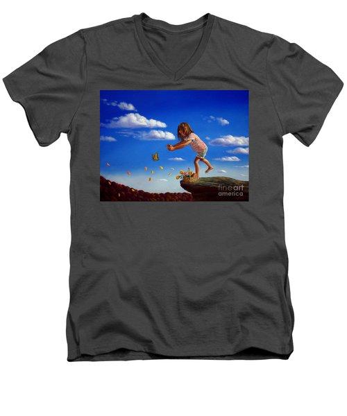 Letting It Go Men's V-Neck T-Shirt