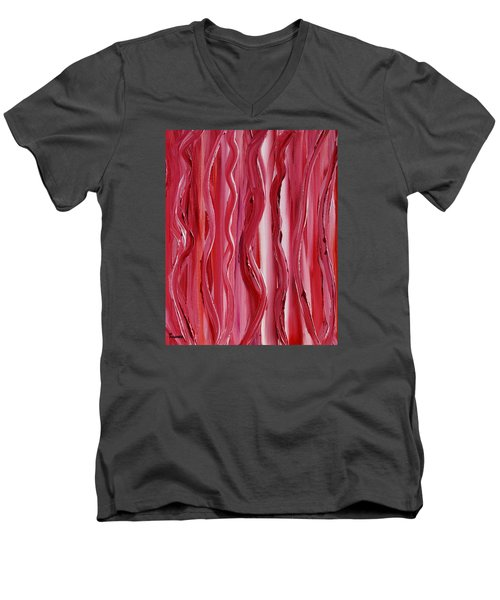 Licorice Men's V-Neck T-Shirt by Donna  Manaraze