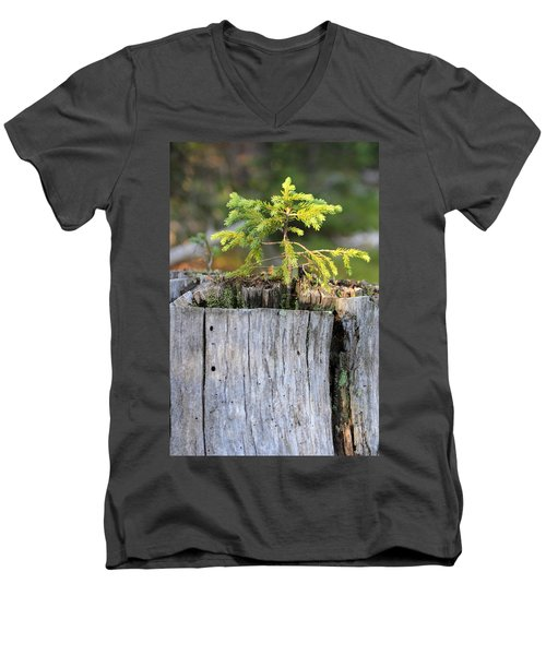 Men's V-Neck T-Shirt featuring the photograph Life After Death by Shane Bechler