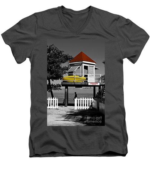 Life Guard Station Men's V-Neck T-Shirt