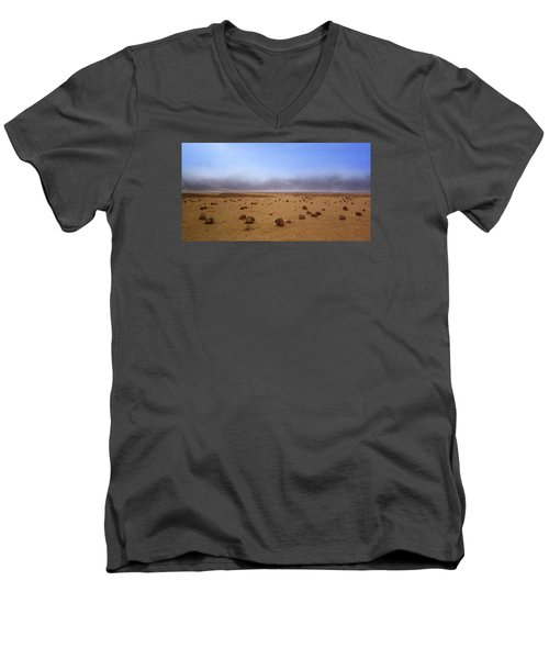 Men's V-Neck T-Shirt featuring the photograph Life On Mars by Dreamland Media