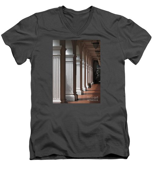Men's V-Neck T-Shirt featuring the photograph Light And Shadows by Ranjini Kandasamy