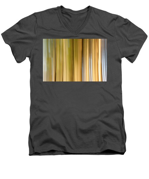 Men's V-Neck T-Shirt featuring the photograph Light And Snow by Davorin Mance