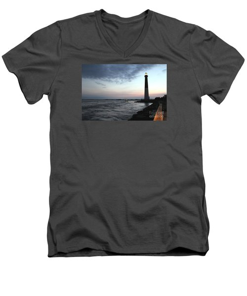 Men's V-Neck T-Shirt featuring the photograph Light At Dawn by David Jackson