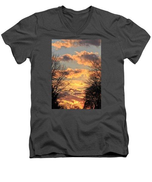 Men's V-Neck T-Shirt featuring the photograph Light Catcher by Julie Andel