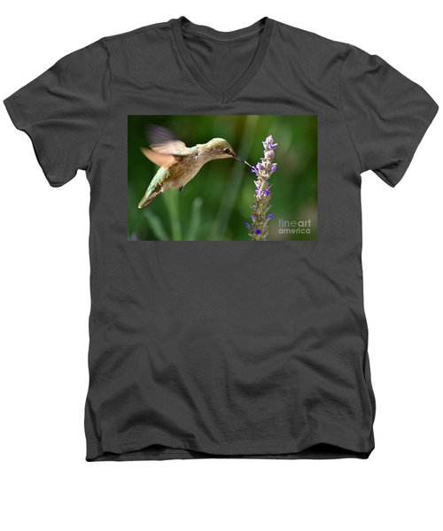 Light Filters Behind The Hummer Men's V-Neck T-Shirt