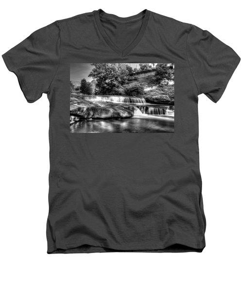 Light In Black And White Men's V-Neck T-Shirt