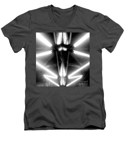 Men's V-Neck T-Shirt featuring the photograph Light Sabers by James Aiken