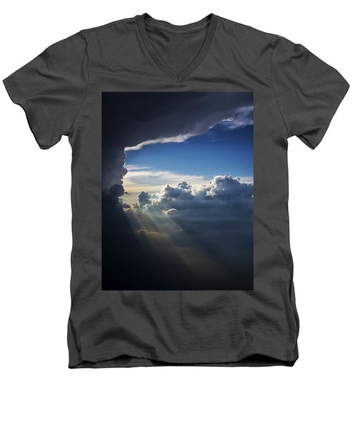 Light Shafts From Thunderstorm II Men's V-Neck T-Shirt