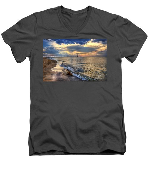 Lighthouse Drama Men's V-Neck T-Shirt