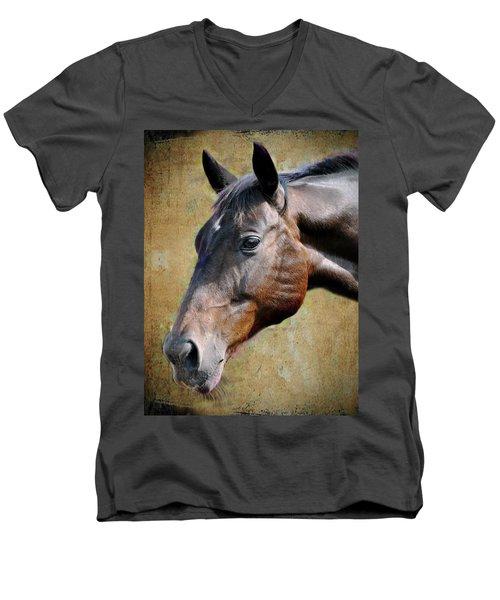 Lil Word Men's V-Neck T-Shirt by Savannah Gibbs