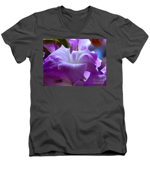 Lilac Flower Men's V-Neck T-Shirt