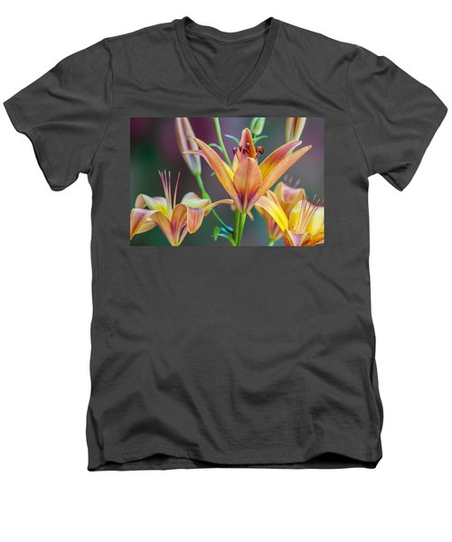 Lily From The Garden Men's V-Neck T-Shirt