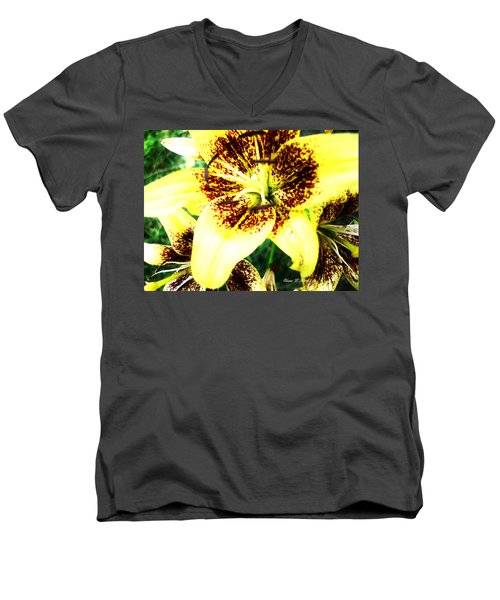 Men's V-Neck T-Shirt featuring the photograph Lily Love by Shana Rowe Jackson