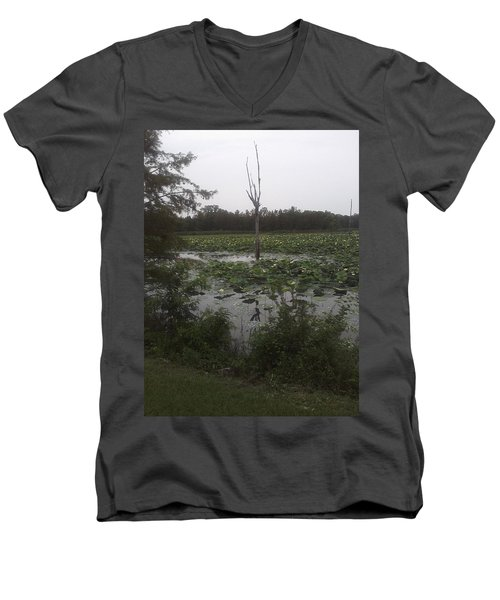 Men's V-Neck T-Shirt featuring the photograph Lily Pads by Fortunate Findings Shirley Dickerson