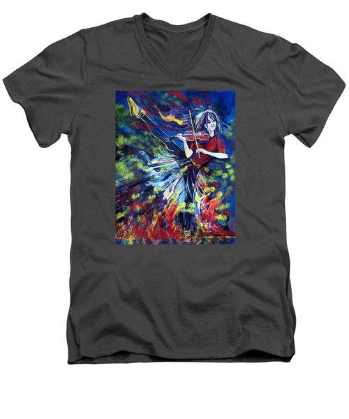 Lindsey Stirling. Dancing Violinist Men's V-Neck T-Shirt