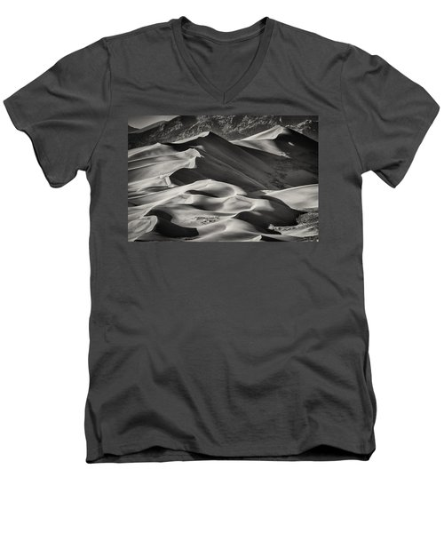 Lines And Shadows 2 Men's V-Neck T-Shirt by Linda Villers