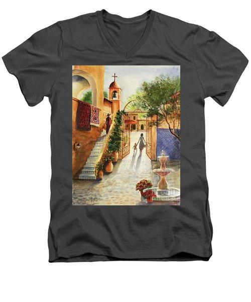 Lingering Spirit-sedona Men's V-Neck T-Shirt