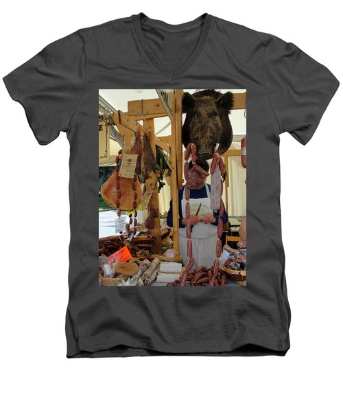 Men's V-Neck T-Shirt featuring the photograph Links by Natalie Ortiz