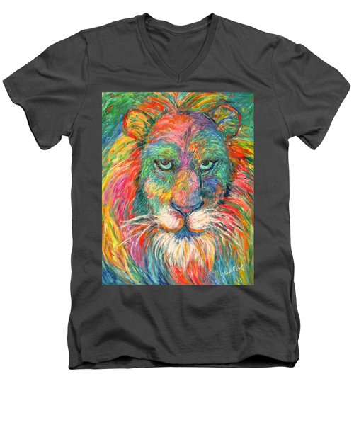 Lion Explosion Men's V-Neck T-Shirt