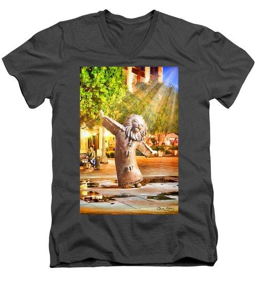 Lion Fountain Men's V-Neck T-Shirt