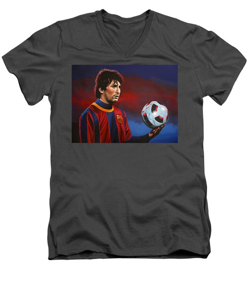 Lionel Messi 2 Men's V-Neck T-Shirt