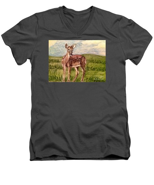 Listening To The Creator's Voice Men's V-Neck T-Shirt by Kimberlee Baxter