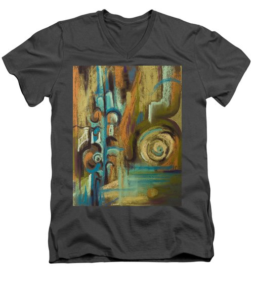 L'italiano Men's V-Neck T-Shirt