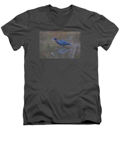 Men's V-Neck T-Shirt featuring the photograph Little Blue Bubbles by Paul Rebmann