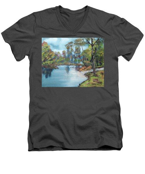 Little Brook Men's V-Neck T-Shirt