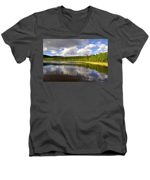 Men's V-Neck T-Shirt featuring the photograph Little Lost Lake by Cathy Mahnke