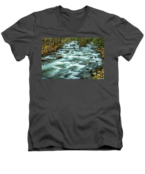 Little Pigeon River Men's V-Neck T-Shirt
