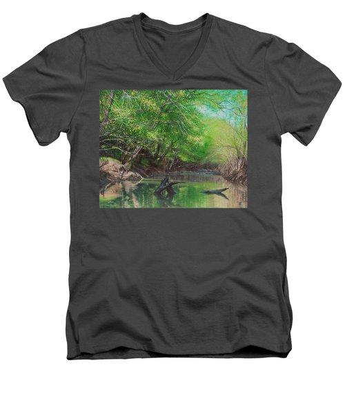 Little Red Morning Men's V-Neck T-Shirt
