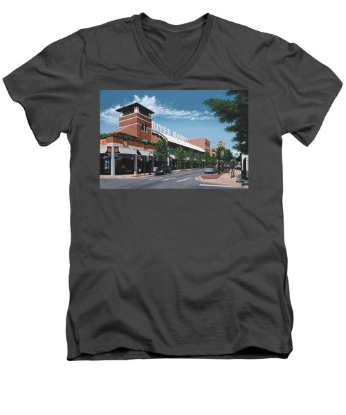 Little Rock River Market Men's V-Neck T-Shirt