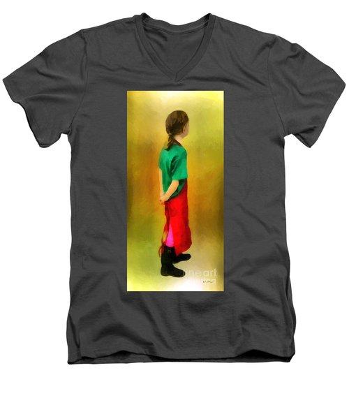 Little Shopgirl Men's V-Neck T-Shirt by RC deWinter