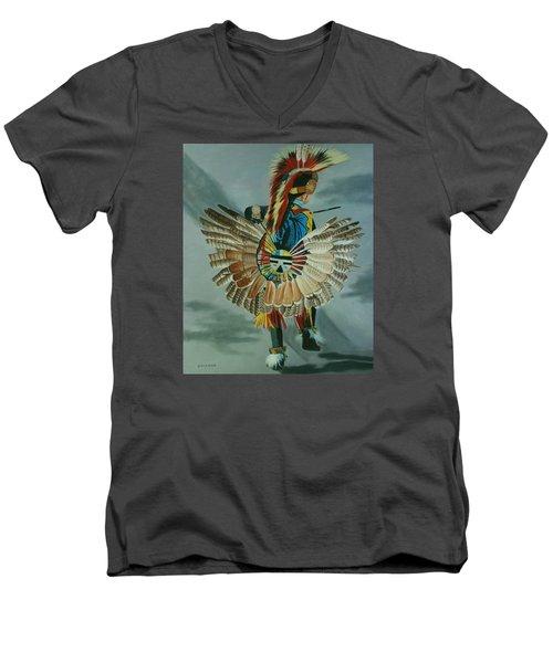 Little Warrior Men's V-Neck T-Shirt