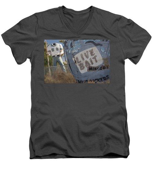 Live Bait And The Man Men's V-Neck T-Shirt