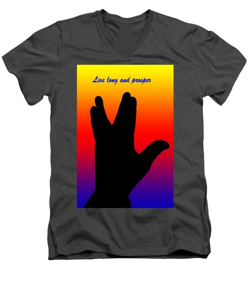 Live Long And Prosper 2 Men's V-Neck T-Shirt