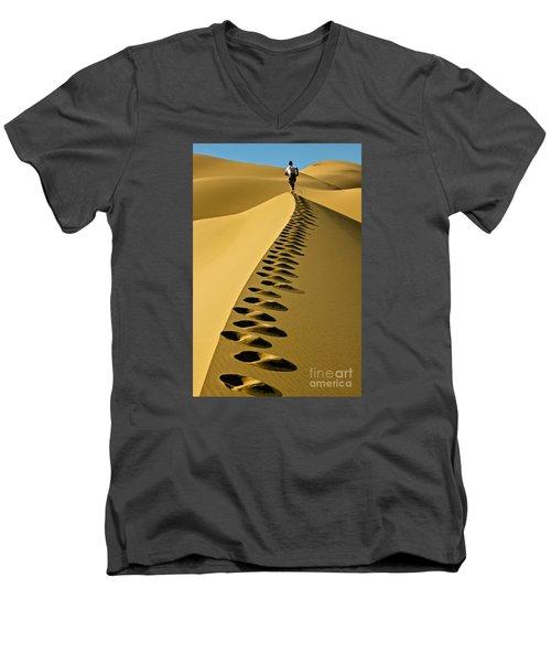 Live On The Edge Men's V-Neck T-Shirt by Michael Cinnamond