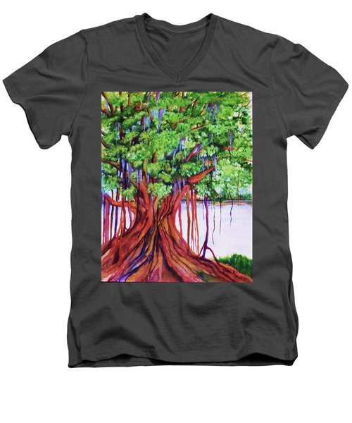 Living Banyan Tree Men's V-Neck T-Shirt