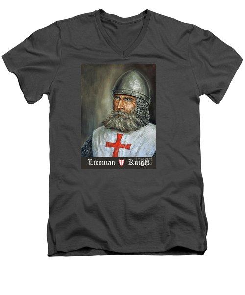 Knight Templar Men's V-Neck T-Shirt by Arturas Slapsys