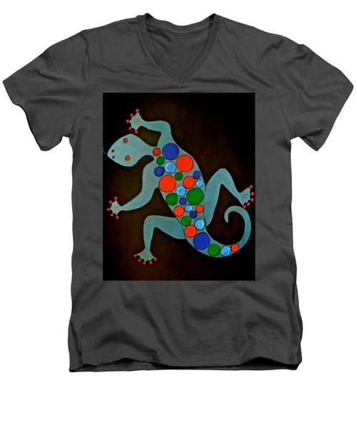 Lizard Men's V-Neck T-Shirt by Stephanie Moore