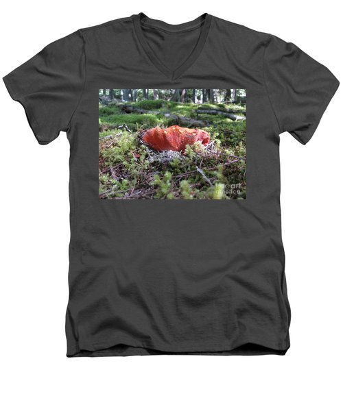 Lobster Mushroom Men's V-Neck T-Shirt