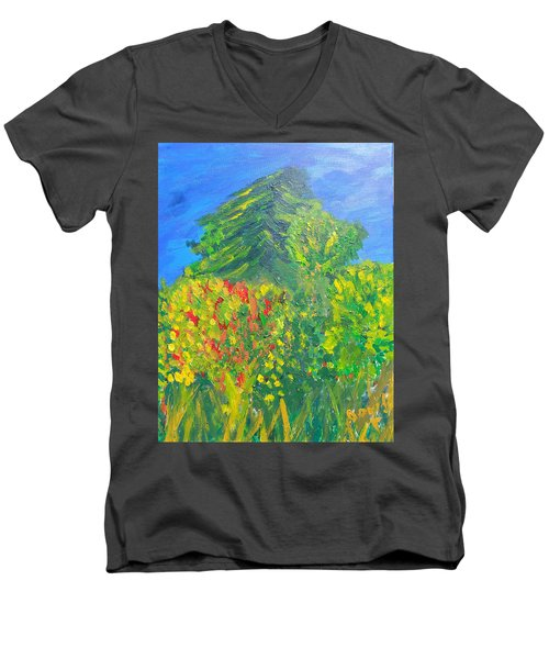Local Trees Men's V-Neck T-Shirt by David Trotter