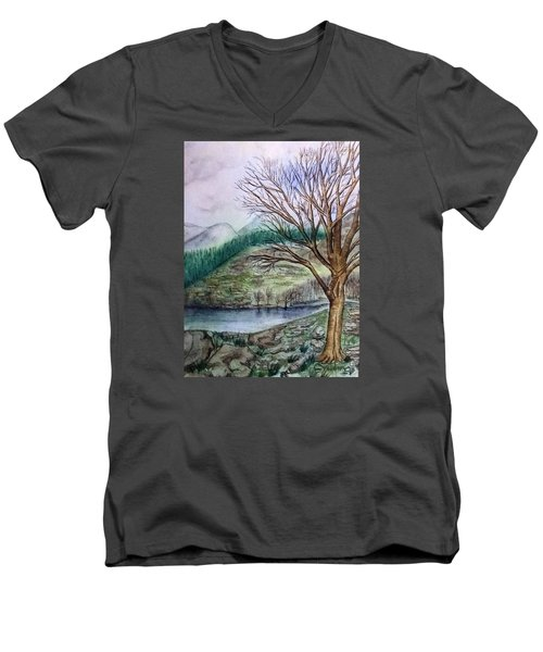 Loch Ard Stirling Overlooking Loch A'ghleannain Men's V-Neck T-Shirt